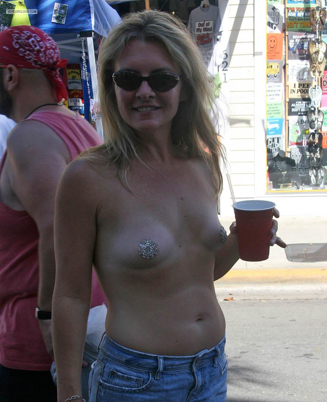 Tit Flash: Very Small Tits By IPhone - Topless Solo from United States